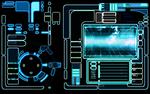宇宙船の操作画面などに使われるUIのデザインです。