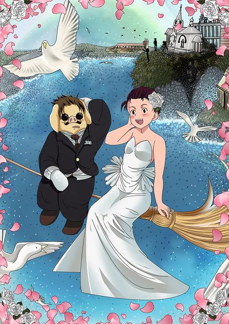 結婚式用ウェルカムボードジブリ風を依頼するイラスト Skillots