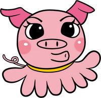 タコと豚を合わせたキャラクター製作