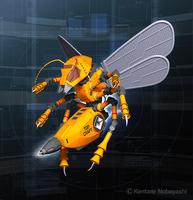 メカニックキャラクター / デザイン、3DCGイラストレーションの納品作品
