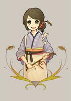 お米のパッケージ 岡山県産 あきたこまち