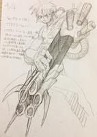 [自作ゲーム]SF中世ファンタジーの機械鎧、武器ラフ絵募集