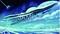 宇宙船の背景イラスト
