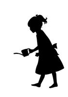 会社ロゴ用 女の子シルエット
