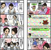 看護学科実習前の指導用冊子に使用する4コマ漫画作成