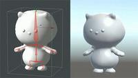 作成済みの3Dモデルへのボーン設置