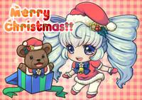 クリスマスカード及びSNS、ブログへのアップ兼用のイラスト