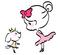 バレエ教室のキャラクター