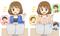 以前作成していただいたキャラクターの若干違うパターン2種類