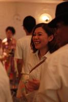 トロピカルホワイトパーティー参加者全員の個人写真撮影