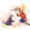 野良猫と遊ぶ子供のイラスト(イメージの見本あり)