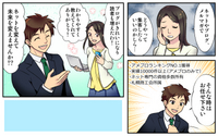 3コマの漫画(イラスト)