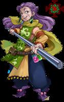 オンラインゲームにて使用する老婆キャラクターのイラスト