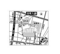 公演チラシの地図