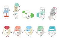 吸入器を擬人化したキャラクターにして下さい