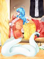 ラミア(下半身が蛇)女子のイラスト
