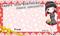 アイドルの生誕用メッセージカードに使用するイラスト