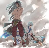 オリジナルキャラクターのイラスト(身内鑑賞、SNS掲載)