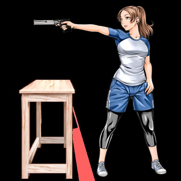 スポーツ射撃競技 銃を構えているイラスト 2点 制作実績 Skillots