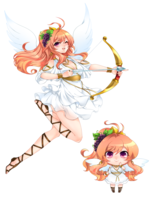 メンズエステ店のホームページで使用する天使風の女の子のキャラクター2点