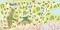 奈良月ヶ瀬梅林公園イラストマップ