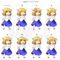 オリジナルキャラクターの立ち絵募集(女性キャラクター・表情差分含む計6枚)