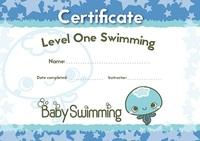 Baby Swimming Certificates