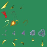 RPGツクール2000の素材データ 戦闘アニメグラフィックの納品作品