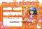 アイドル生誕祭用メッセージカード