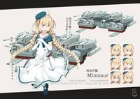 戦闘艦の擬人化の納品作品