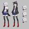 TRPG、定期更新型のゲーム、SNS等にて使用するオリジナルキャラクター