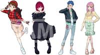 同人ゲームのキャラクターデザイン及び立ち絵