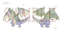 ドラゴンのデザイン設定画とデフォルメデザイン