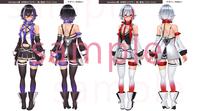 オリジナル3Dキャラクターモデルのキャラクターデザイン及び三面図