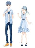 オリジナルキャラクターのイラスト作成(新規サービス検証用)