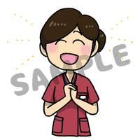 看護師のイラスト(全10ポーズ)の納品作品