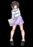 ・アニソンクラブパーティーのオリジナルキャラクターのデザインとフライヤーイラスト