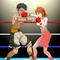 ボクシングの男女対決をテーマとしたイラスト