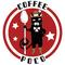 珈琲ラベルシールデザイン+HPのロゴとしても併用可能
